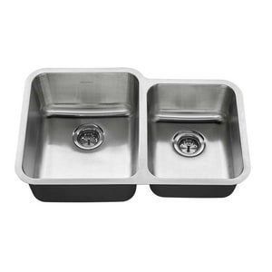 American Standard Prevoir® 7-1/2 in. 18 ga 2-Bowl Undermount Kitchen Sink in Stainless Steel A18CR9312000T075