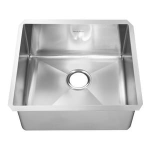 American Standard Pekoe® 23 x 18 in. No Hole Single Bowl Undermount Kitchen Sink in Stainless Steel A18SB10231800075