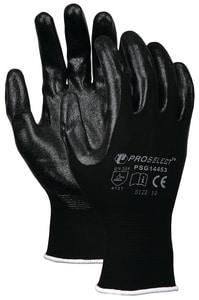 PROSELECT® M Black Foam Coated Plastic/Nitrile Waterproof Gloves PSG14452 at Pollardwater