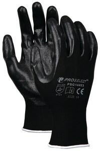 PROSELECT® XL Black Foam Coated Plastic/Nitrile Waterproof Gloves PSG14454 at Pollardwater