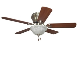 Craftmade International Wyman 5-Blade Ceiling Fan with Light in Brushed Polished Nickel CWC42BNK5C1
