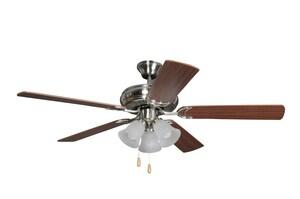 Craftmade International Decorator's Choice 52 in. Ceiling Fan & Light Kit in Brushed Nickel CDCF52BNK5C3