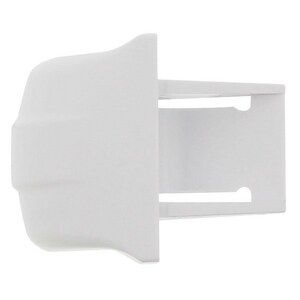 Exact Replacement Parts Refrigerator Shelf End Cap in White EERWR2X9162