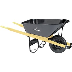 Corona Clipper Steel and Wood Wheelbarrow with Wood Handle CWB2506K