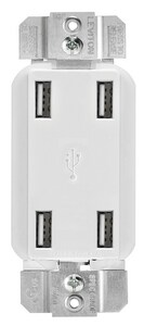 Leviton Decora® 4.2A 4-Port USB Charger in Ivory LUSB4PI