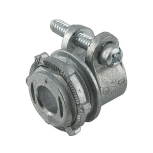 RACO 3/8 in. Uninsulated Die Cast Zinc Straight Squeeze Connector R2191