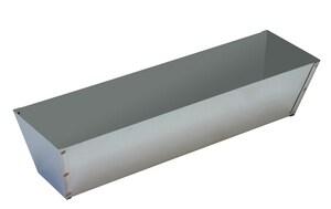 Warner Manufacturing 12 x 4 in. Stainless Steel Mud Pan W207