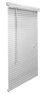 Lotus & Windoware 63 x 71 in. 1 in. PVC Mini Blind in White LML6372WH