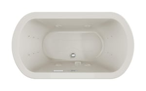 JACUZZI® Duetta® 66 x 36 in. Thermal Air Drop-In Bathtub with Center Drain in Oyster JDUE6636CCR4CPYY