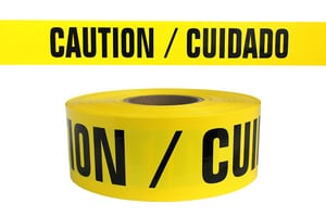 Presco 300 ft. x 3 in. 2 mil Caution Barrier Tape PB332Y13