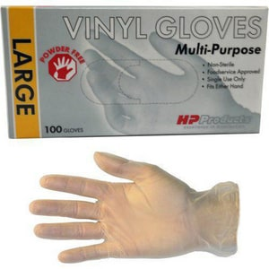 HP Products 5 mil Poly Flo Vinyl Disposable Glove (100 per Box) H10671 at Pollardwater