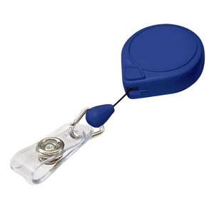 Lucky Line Products Plastic Mini Bak with Badge Holder in Blue 1 Pack L4281