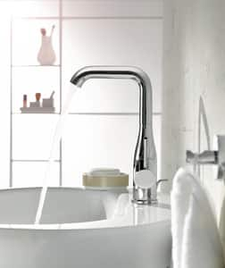 GROHE Essence New Single Handle Vessel Filler Bathroom Sink Faucet in StarLight Polished Chrome G2348600A