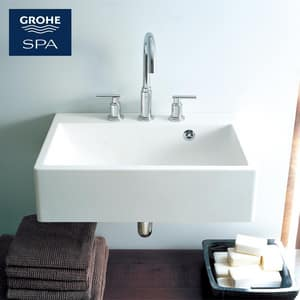 GROHE® Atrio Two Handle Widespread Bathroom Sink Faucet in StarLight Polished Chrome Handles Sold Separately G2006900A