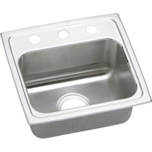 Elkay Gourmet® 1-Bowl Stainless Steel Topmount Kitchen Sink with Center Drain ELR1716