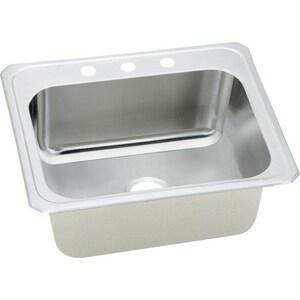 Elkay Pursuit™ 25 x 22 in. Drop-in Laundry Sink in Brushed Satin EDCR2522123