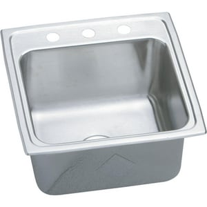 Elkay Lustertone™ 1-Hole 1-Bowl Deep Laundry Sink in Lustrous Highlighted Satin EDLR191910