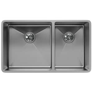 Elkay Crosstown® 31-1/2 x 18-1/2 in. Stainless Steel Double Bowl Undermount Kitchen Sink EECTRU32179R