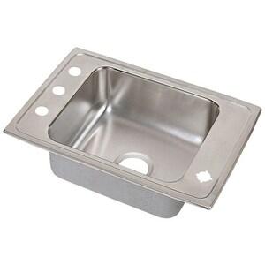 Elkay Lustertone™ 2-Hole Single Bowl Stainless Steel Sink EDRKAD2517552LM