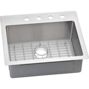 Elkay Crosstown® 25 x 22 in. 1 Hole Stainless Steel Single Bowl Dual Mount and Drop-in Kitchen Sink EECTSR25229BG1