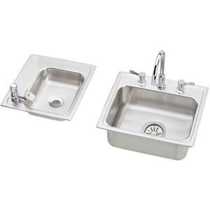 Elkay Lustertone® 4-Hole Topmount Classroom Sink EDRKAD2341750LC