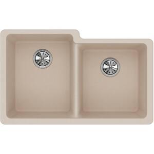 Elkay Quartz Classic® 9-1/2 in. 2-Bowl Undermount Kitchen Sink in Putty EELGU250RPT0