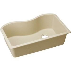 Quartz Classic® 33 x 20 in. No-Hole  Single Bowl Undermount Kitchen Sink in Sand EELGUS3322RSD0
