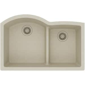 Elkay Quartz Classic® 33 x 22 in. Composite Double Bowl Undermount Kitchen Sink in Bisque EELGHU3322RBQ0