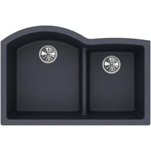 Elkay Quartz Classic® 33 x 22 in. Composite Double Bowl Undermount Kitchen Sink in Dusk Grey EELGHU3322RGY0