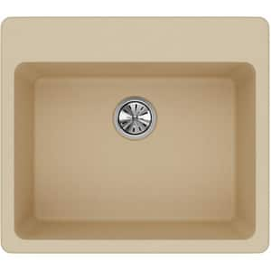Elkay Quartz Classic® 25 x 22 in. 1-Bowl Kitchen Sink with Rear Center Drain in Sand EELG2522SD0
