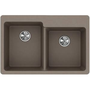 Elkay Quartz Classic® 33 x 22 in. No-Hole  Single Bowl Topmount Kitchen Sink in Greige EELG250RGR0