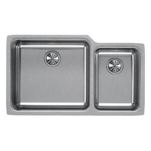 Elkay Lustertone® 2-Bowl Undermount Sink in Lustrous Highlighted Satin EELUH3520R