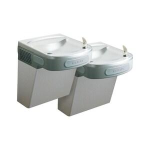 Elkay 25-5/16 in. 8 gph Wall Mount Bi-Level ADA Filter Cooler in Stainless Steel EEZTL8SFC