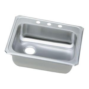 Elkay Celebrity® 2-Hole 1-Bowl Topmount Sink with Left Drain in Brushed Satin EGECR2521L2