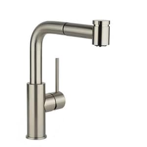 Elkay Harmony™ 1-Hole Deckmount Pull-Out Bar Faucet with Single Lever Handle in Brushed Nickel ELKHA3042NK