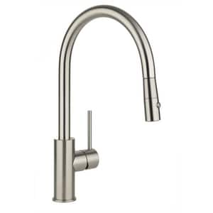 Elkay Harmony™ 1-Hole Pull-Down Spray Kitchen Faucet with Single Lever Handle and 9-1/8 in. Spout Reach in Brushed Nickel ELKLFHA2031NK