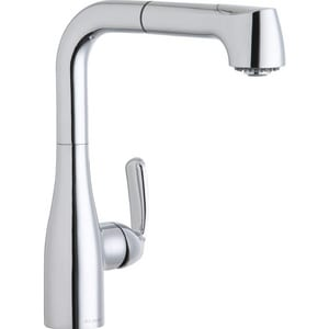 Elkay Gourmet® 1-Hole Deckmount Pull-Out Bar Faucet with Single Lever Handle in Polished Chrome ELKLFGT2042CR