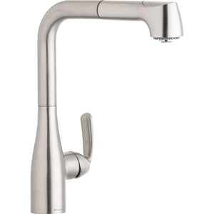 Elkay Gourmet® Single Handle Pull Out Kitchen Faucet in Brushed Nickel ELKGT2041NK