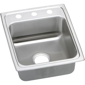 Elkay Gourmet® 1-Bowl Topmount Kitchen Sink with Rear Center Drain ELRAD172060