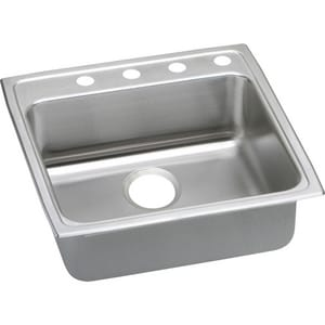 Elkay Lustertone™ Classic Single Bowl Top-Mount Stainless Steel Kitchen Sink