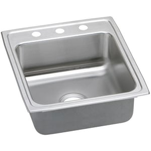 Elkay Lustertone™ Classic 3-Hole 1-Bowl Topmount Kitchen Sink in Lustrous Highlighted Satin ELRAD2022653