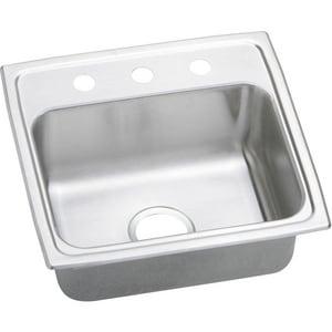 Elkay Celebrity® 19 x 18 x 7-1/4 in. Single Bowl Stainless Steel Sink 2 Hole EPSR19182