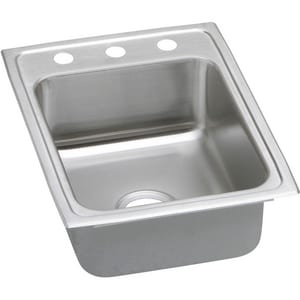 Elkay Gourmet Pacemaker® Single Hole Single Bowl Stainless Steel Kitchen Sink in Satin EPSR17221