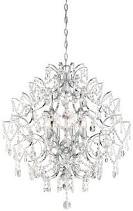Minka-Lavery Isabellas Crown 60W 8-Light Chandelier in Polished Chrome M315877