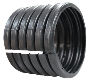 Advanced Drainage Systems N-12® 6 in. Split Corrugated Straight HDPE Single Wall Coupling A0611AA