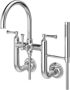 Pfister Tisbury™ Two Handle Wall Mount Filler in Polished Chrome PLG63TBC