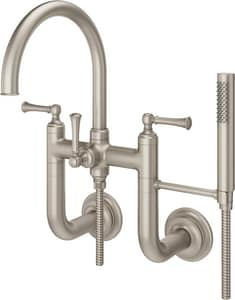 Pfister Tisbury™ Two Handle Wall Mount Filler in Brushed Nickel PLG63TBK