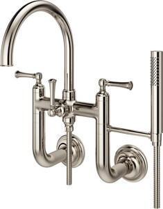 Pfister Tisbury™ Two Handle Wall Mount Filler in Polished Nickel PLG63TBD
