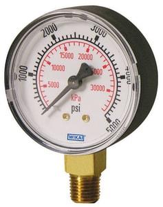 WIKA 4 in. 300 psi 1/4 in. MNPT Water Gauge W4233761