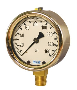 WIKA Bourdon 2-1/2 in. 5000 psi Pressure Gauge W9318283